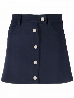 Niebieska klasyczna spódnica Courreges
