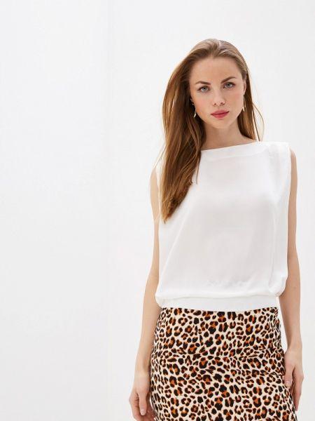 Белая блузка без рукавов Hassfashion