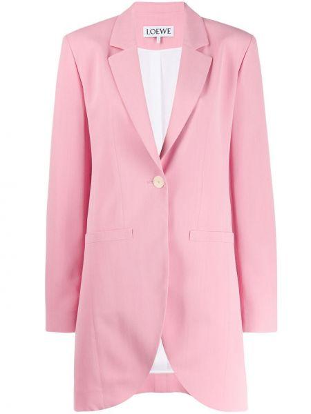 Однобортный розовый пиджак из вискозы Loewe