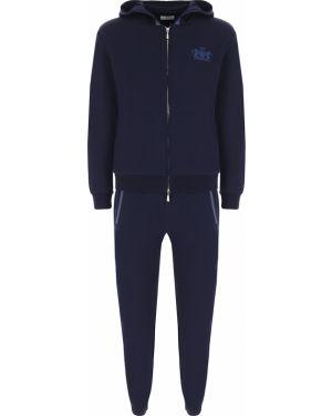Темно-синий костюмный костюм на молнии с карманами Castangia