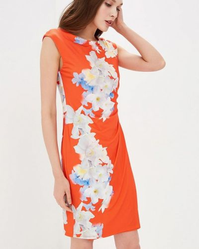 Оранжевое платье осеннее Wallis