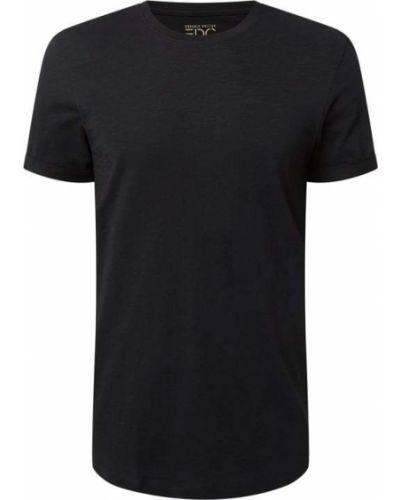 Czarna koszulka krótki rękaw Edc By Esprit