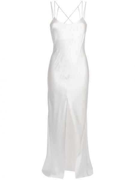Шелковое тонкое вечернее платье на бретелях с вырезом Kiki De Montparnasse