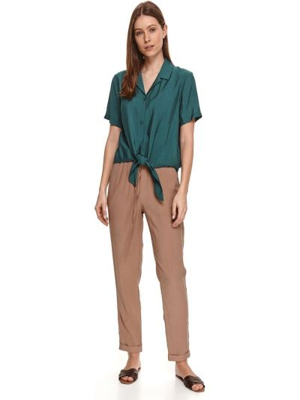 Zielona koszula krótki rękaw bawełniana Top Secret