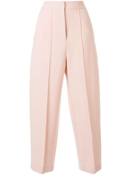 Розовые укороченные брюки с поясом Tomorrowland