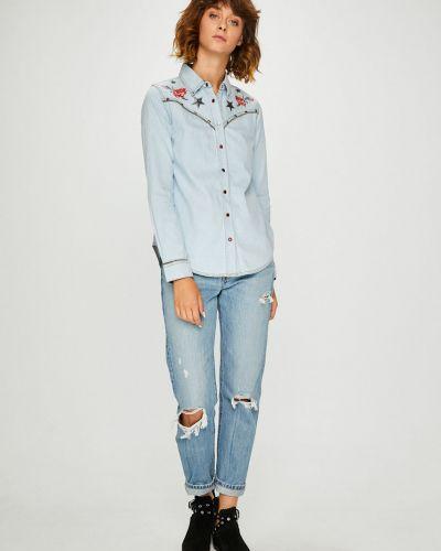Блузка с длинным рукавом с вышивкой прямая Desigual