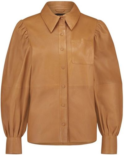 Brązowa bluzka skórzana Ibana