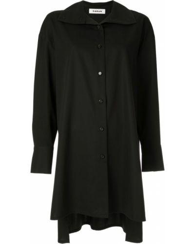 Свободная черная рубашка на пуговицах Caban
