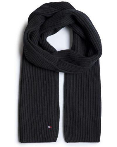Czarny szalik bawełniany Tommy Hilfiger