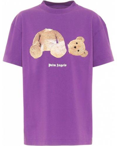 Bawełna bawełna fioletowy koszula Palm Angels