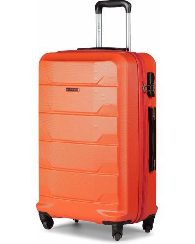 Czerwona walizka duża Puccini