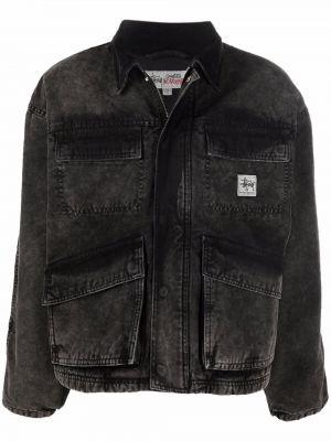 Длинная куртка - черная Stussy