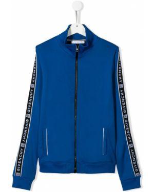 Толстовка синяя на шею Givenchy Kids