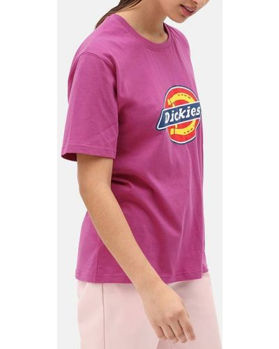 Розовая футболка Dickies