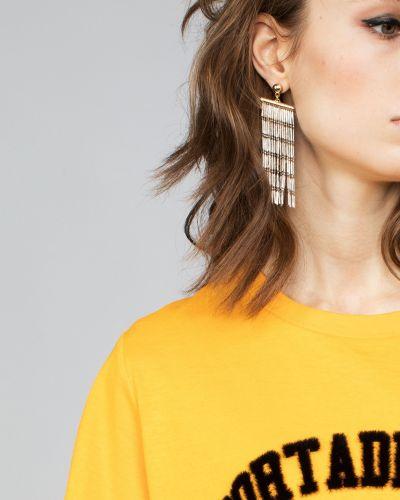 Серьги металлические серебряного цвета Parfois