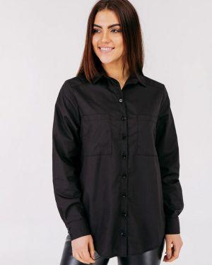 Блузка с длинным рукавом черная весенний Bessa