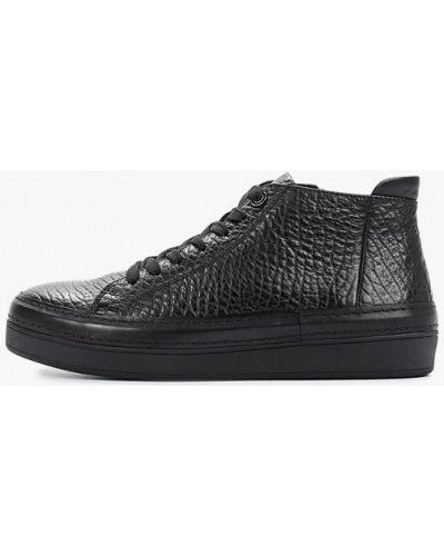 Черные высокие кроссовки Guido Grozzi
