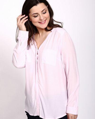 Блузка с кокеткой - розовая Apanage