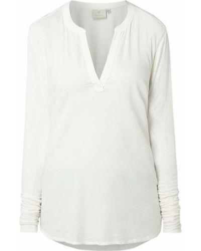 Biała bluzka z wiskozy z dekoltem w serek Kaffe