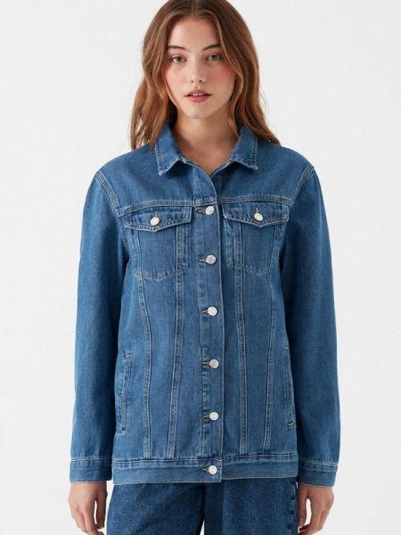Джинсовая куртка весенняя синий Mavi