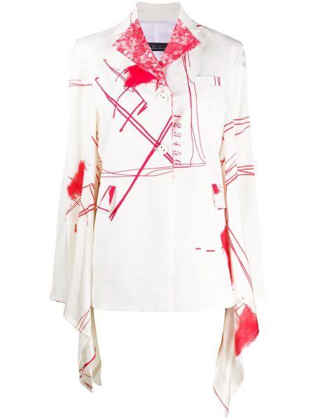 Белая ажурная куртка на пуговицах свободного кроя Barbara Bologna