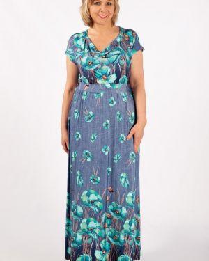 Летнее платье макси с цветочным принтом милада