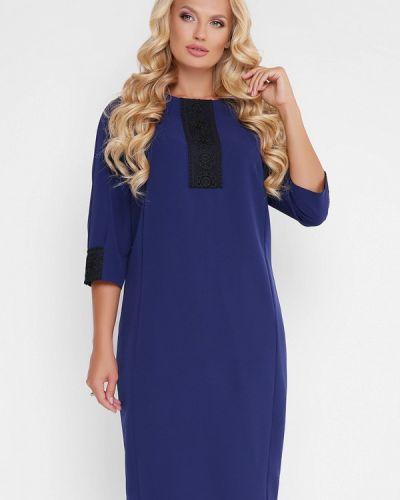 Повседневное платье осеннее синее Vlavi