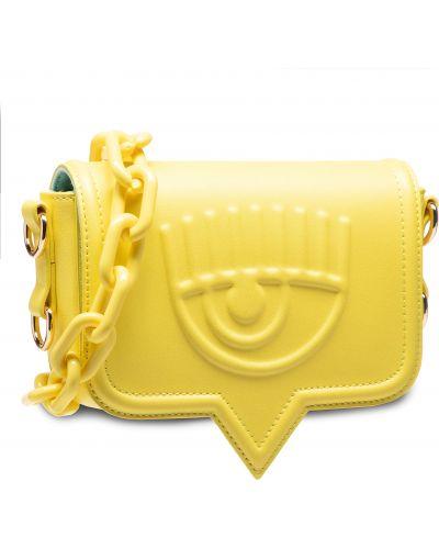 Żółta torebka Chiara Ferragni