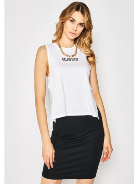 Koszulka - biała Calvin Klein Swimwear