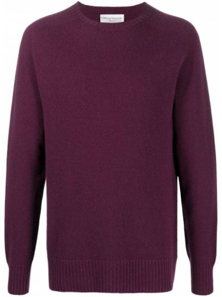 Сиреневый вязаный длинный свитер с длинными рукавами Officine Generale