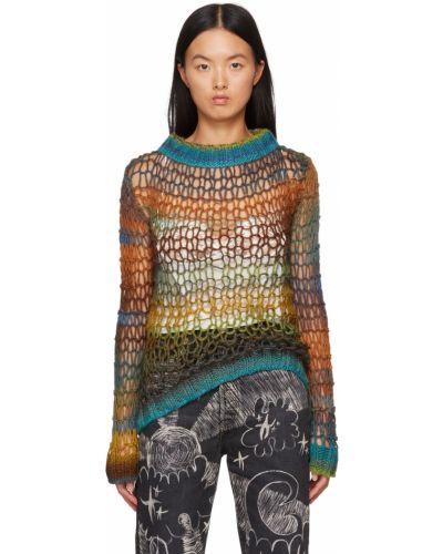 Зеленый шерстяной свитер Anna Sui