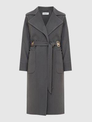 Шерстяное пальто - серое Lanvin