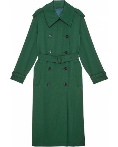 Пальто зеленое с воротником Acne Studios
