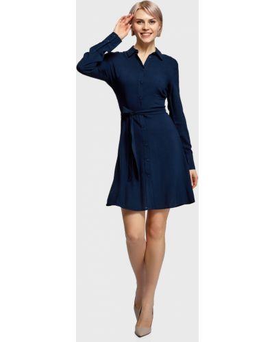Платье - синее Oodji