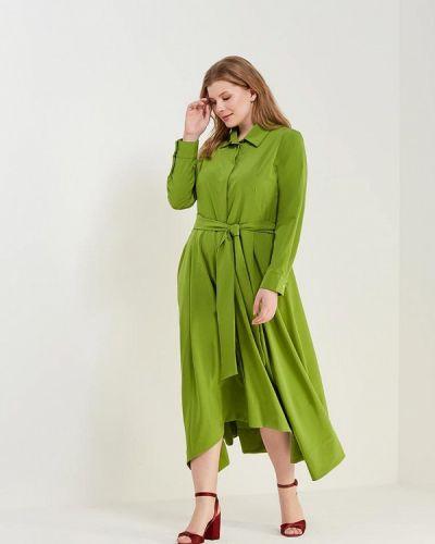 Зеленое платье льняное Svesta