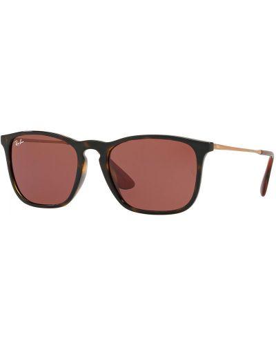 Солнцезащитные очки стеклянные черные Ray-ban