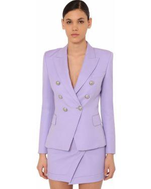 Пиджак двубортный на пуговицах Balmain