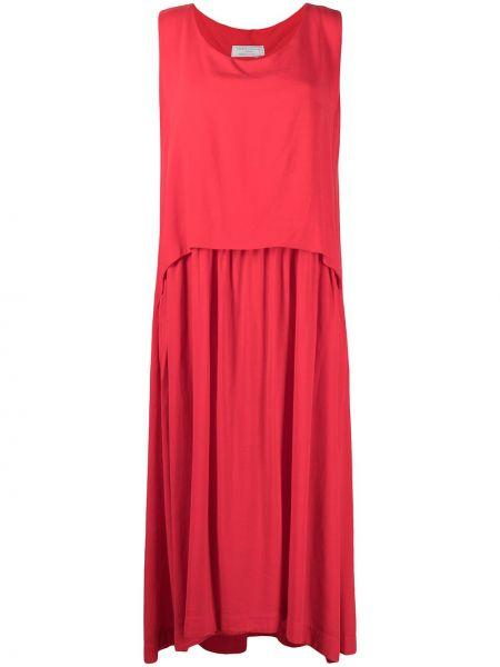 Красное платье макси без рукавов с вырезом SociÉtÉ Anonyme