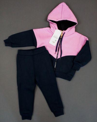 Фиолетовые трикотажные спортивные брюки с начесом габби