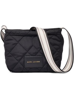 Стеганая черная сумка через плечо на молнии Marc Jacobs