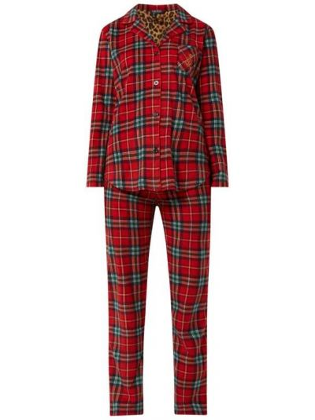 Światło piżama spodni piżama z długimi rękawami z kołnierzem Lauren Ralph Lauren
