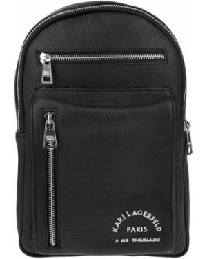 Рюкзак черный кожаный Karl Lagerfeld