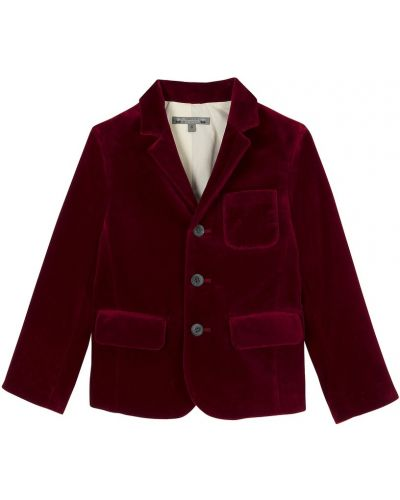 Пиджак бархатный красный Bonpoint