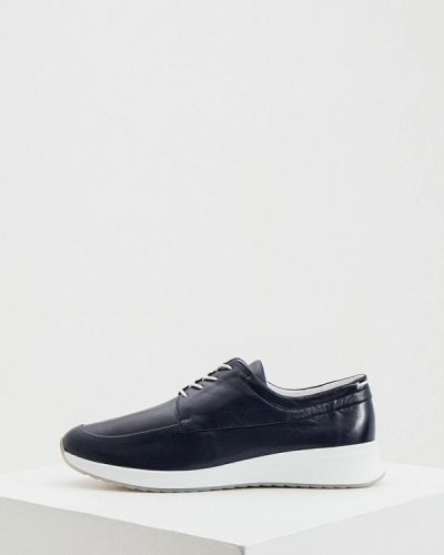 Синие кожаные кроссовки Hogl