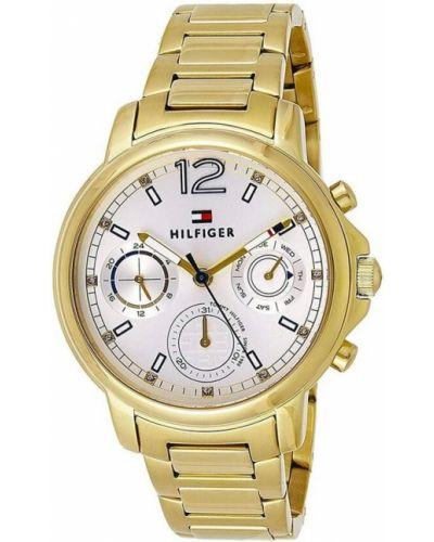 Szary zegarek kwarcowy srebrny Tommy Hilfiger