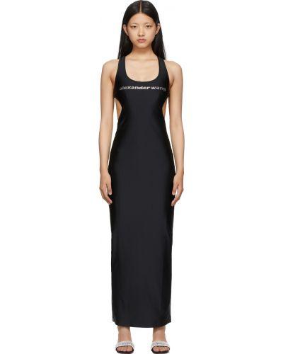 Sukienka długa srebrna - czarna Alexander Wang
