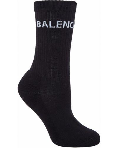 Черные колготки с принтом Balenciaga