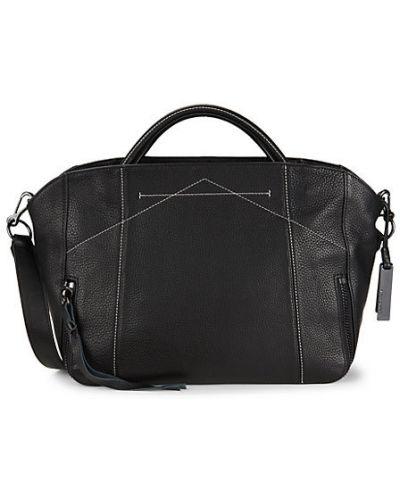 Черный кожаный ранец с карманами Vince Camuto