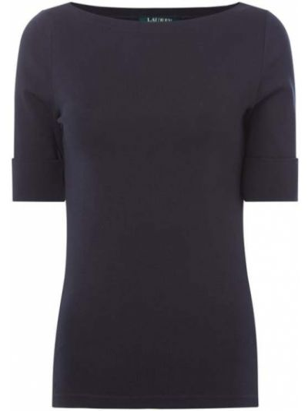 Niebieska bluzka bawełniana Lauren Ralph Lauren