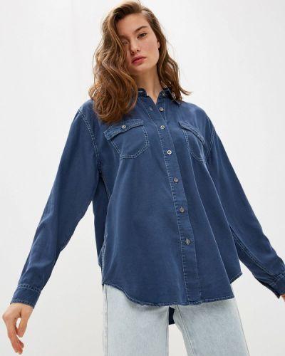 Синяя джинсовая рубашка с запахом One Teaspoon